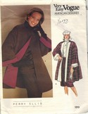 Vogue 1213 Perry Ellis Swing Coat Size 12 Pattern UNCUT