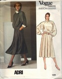 Vogue 1229 Adri Top Skirt Pattern UNCUT