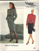 Vogue 1231 Pierre Balmain Pattern Jacket Skirt Size 12 uncut