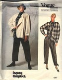 Vogue 1257 Issey Miyake Jacket Top Pants Pattern Size 12 uncut