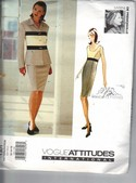 Vogue 1301 Myrene De Premonville Jacket Dress Pattern UNCUT