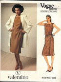 Vogue 1324 Valentino Sewing Pattern Dress Coat Size 12 Uncut