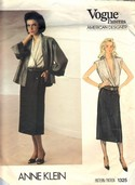 Vogue 1325 Anne Klein Jacket Skirt Blouse Pattern UNCUT