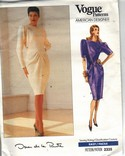 Vogue 2335 Oscar de la Renta Dress Pattern NEW
