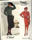 Vogue 1427 Chloe Jacket Skirt Pattern Size 12 UNCUT