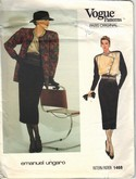Vogue 1468 Ungardo Jacket Skirt Blouse Sz 12 Pattern uncut