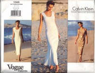 Vogue 1588 Calvin Klein Slim Dress Pattern UNCUT