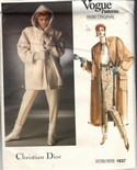 Vogue 1637 Christian Dior Coat Jacket Pattern UNCUT