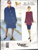 Vogue 1659 Bill Blass Coat Tunic Skirt Pattern UNCUT 20-22-24