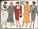 Vogue 1673 Basic Design Dress Pattern UNCUT 12-14-16