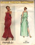 Vogue 1674 Renata Evening Gown Pattern UNCUT