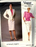 Vogue 1766 Emanuel Ungaro Suit Pattern