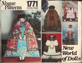 Vogue 1771 New World of Dolls Pattern UNCUT