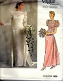 Vogue 1829 Bridal Original Gown Pattern UNCUT Size 12