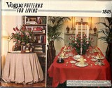 Vogue 1845 Tablecloth Sewing Pattern UNCUT