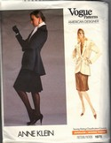 Vogue 1975 Anne Klein Skirt Suit Pattern UNCUT
