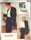 Vogue 2034 Tamotsu Suit Sewing Pattern Small UNCUT