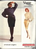 Vogue 2151 Ungaro Top Skirt Pattern Uncut Size 12