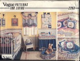 Vogue 2263 Nursery Decor Pattern UNCUT