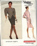 Vogue 2309 Ungaro Suit Pattern Size 10-12 UNCUT
