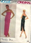 Vogue 2325 Christian Dior Evening Dress Pattern UNCUT