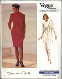 Vogue 2336 Oscar de la Renta Dress Pattern 8-10-12 NEW