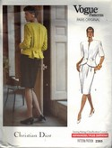 Vogue 2365 Christian Dior Jacket Skirt Pattern UNCUT