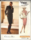 Vogue 2366 Christian Dior Suit Pattern Medium UNCUT
