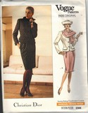 Vogue 2366 Christian Dior Suit Pattern Large UNCUT