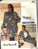 Vogue 2435 Anne Klein Jacket and Skirt Pattern UNCUT