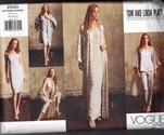 Vogue 2500 Tom and Linda Platt Kimono Ensemble Pattern UNCUT