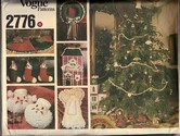 Vogue 2776 Christmas Décor Pattern UNCUT