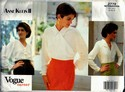 Vogue 2779 Career Blouse Anne Klein Pattern UNCUT