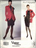 Vogue 2788 Karl Lagerfeld Dress Jacket Pattern 14-16-18 NEW