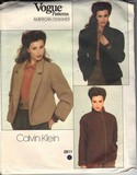 Vogue 2811 Calvin Klein Size 10 Coat Pattern UNCUT