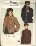 Vogue 2811 Calvin Klein Size 12 Coat Pattern UNCUT