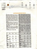 Vogue 2851 Calvin Klein Jeans Pattern UNCUT Small