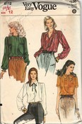 Vogue 8112 Size 12 Blouse Pattern UNCUT