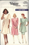 Vogue 7125 Maternity Dress Sewing Pattern UNCUT