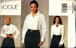 Vogue 7366 Career Blouse Pattern UNCUT