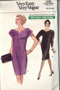 Vogue 7429 Sheath Shift Pattern 14-16-18 UNCUT