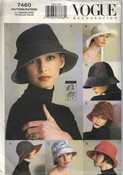 Vogue 7460 Seven Style Hat Pattern