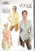 Vogue 7828 Wrapped Front Blouse Pattern UNCUT