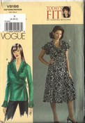 Vogue 8186 Wrap Dress Top Size A Sewing Pattern