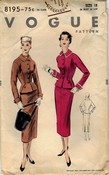 Vogue 8195 Vintage Skirt Suit Pattern