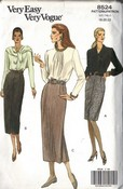 Vogue 8524 Pencil Skirt Pattern UNCUT