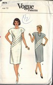Vogue 8664 Shift Dress Pattern Uncut