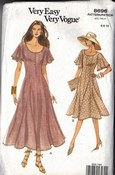 Vogue 8696 Flared Dress Pattern 6-8-10 Uncut