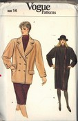 Vogue 8776 Coat Pattern UNCUT Size 14