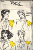 Vogue 8817 Shoulder Pad Pattern UNCUT